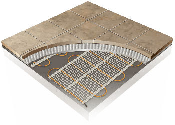 Electric Radiant Floor Tile Heating System 60 Ft 178