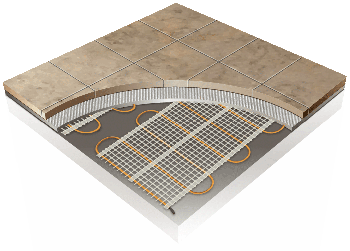 ThermoTile 3D floor heating image