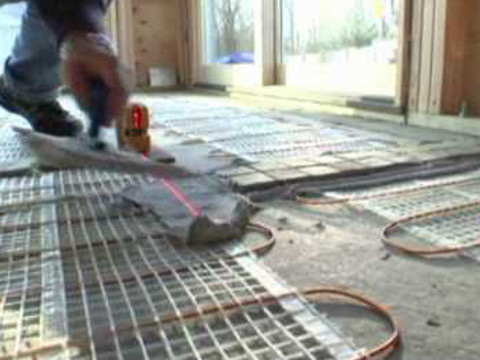 Floor heating installation video preview