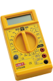 Electric floor heating accessories digital multimeter - yellow