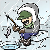 Ice fishing seat image