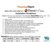 ThermoTile heated flooring manual image