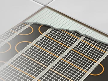 Floor heating installation cutout